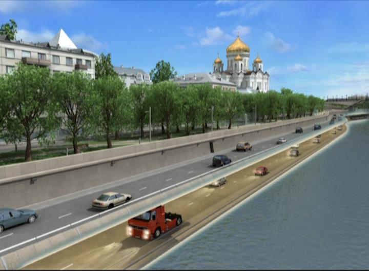 Проект реконструкции Пречистенской набережной