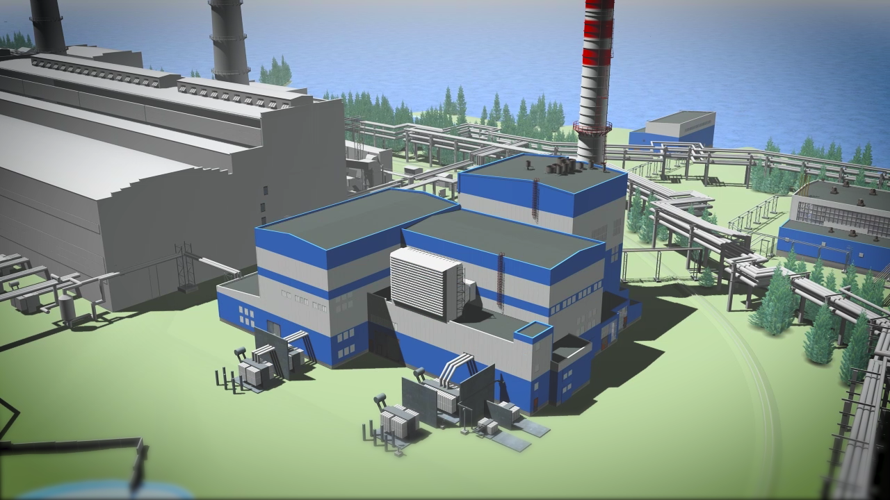 Визуализация строительства ПГУ-410